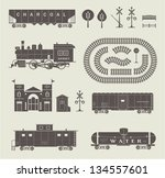 vector set of various elements... | Shutterstock .eps vector #134557601