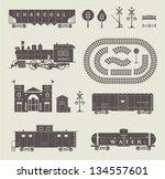vector set of various elements... | Shutterstock .eps vector #134557601