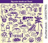 travel doodles collection... | Shutterstock .eps vector #134557901