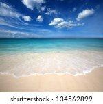 Sea Beach Blue Sky Sand Sun...