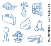 set of furniture shop and... | Shutterstock .eps vector #1345631351