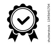 award vector icon  badge with... | Shutterstock .eps vector #1345641704