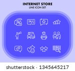 internet store line icon set.... | Shutterstock .eps vector #1345645217