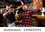 friday relax in pub. cheers... | Shutterstock . vector #1345653251