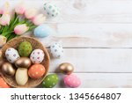 happy easter  colourful of... | Shutterstock . vector #1345664807