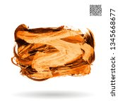 orange brush stroke and texture.... | Shutterstock .eps vector #1345668677