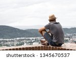 a young guy in comfortable... | Shutterstock . vector #1345670537