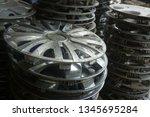 motorcycle wheel alloy | Shutterstock . vector #1345695284