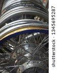 motorcycle wheel alloy | Shutterstock . vector #1345695287
