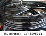 motorcycle wheel alloy | Shutterstock . vector #1345695311