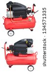 Small photo of 24 liter/2 HP air compressor (front and back) with clipping path.