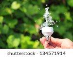 ecological concept symbolizing... | Shutterstock . vector #134571914