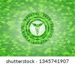 caduceus medical icon inside...   Shutterstock .eps vector #1345741907