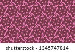 pattern with abstract illusion... | Shutterstock .eps vector #1345747814