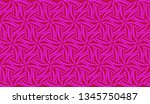 pattern with abstract illusion... | Shutterstock .eps vector #1345750487