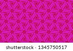 pattern with abstract illusion... | Shutterstock .eps vector #1345750517