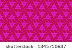 pattern with abstract illusion... | Shutterstock .eps vector #1345750637