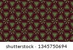 pattern with curved line.... | Shutterstock .eps vector #1345750694