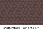 curved line in triangles style. ... | Shutterstock .eps vector #1345751474