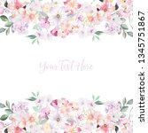 watercolor flowers set  wedding ... | Shutterstock . vector #1345751867