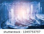 stock market or forex trading... | Shutterstock . vector #1345753757