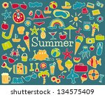 summer collection | Shutterstock .eps vector #134575409