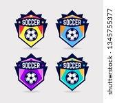 soccer logo or football club... | Shutterstock .eps vector #1345755377