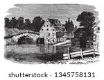Antietam also known as the Battle of Sharpsburg particularly in the Southern United States was fought on September 17 in 1862, vintage line drawing or engraving illustration.