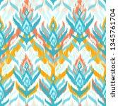 ikat textile seamless pattern.... | Shutterstock . vector #1345761704