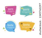 quote box vector set on a white ... | Shutterstock .eps vector #1345763297