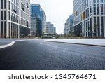 panoramic skyline and modern... | Shutterstock . vector #1345764671