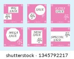 sale banners  flyers with... | Shutterstock .eps vector #1345792217