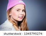a portrait of an emotional... | Shutterstock . vector #1345795274