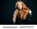 a close up portrait of a cute... | Shutterstock . vector #1345795277