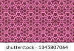pattern with abstract illusion... | Shutterstock .eps vector #1345807064