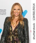 Small photo of New York, NY - March 21, 2019: Toni Collette wearing dress by Ulla Johnson attends 25th anniversary screening of Muriel's Wedding at Australian International Screen Forum at Lincoln Center