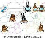 concert of the summer insect. | Shutterstock .eps vector #1345820171