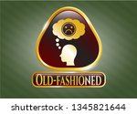 shiny badge with depression... | Shutterstock .eps vector #1345821644