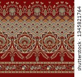 traditional indian paisley... | Shutterstock . vector #1345821764