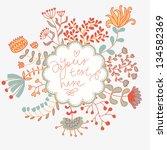 light floral vector invitation. ... | Shutterstock .eps vector #134582369