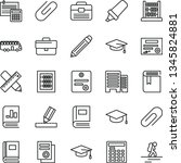 thin line vector icon set  ... | Shutterstock .eps vector #1345824881