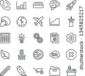 thin line vector icon set  ... | Shutterstock .eps vector #1345825217