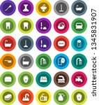 white solid icon set  soap... | Shutterstock .eps vector #1345831907
