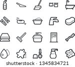 bold stroke vector icon set  ... | Shutterstock .eps vector #1345834721