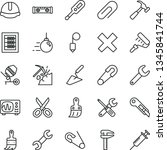 thin line vector icon set  ... | Shutterstock .eps vector #1345841744