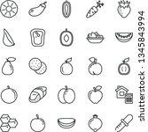 thin line vector icon set  ... | Shutterstock .eps vector #1345843994