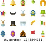 color flat icon set   easter... | Shutterstock .eps vector #1345844351