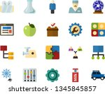 color flat icon set   elections ... | Shutterstock .eps vector #1345845857
