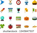 color flat icon set   easter... | Shutterstock .eps vector #1345847537