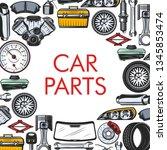 car spare parts  auto repair...   Shutterstock .eps vector #1345853474